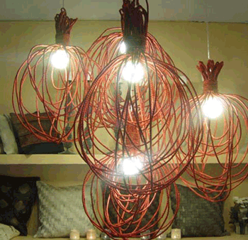 Whisk Lamp Abaca