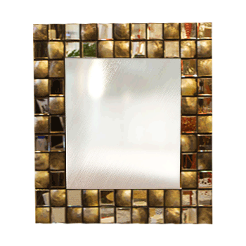 Square Mirror With MOP