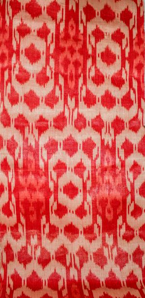 Bed Klagan Dark Red/Light Red/Natural